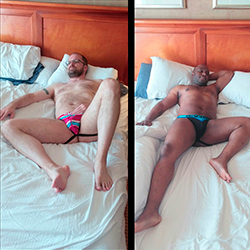 A Couple in their Jockstraps?>